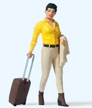 Figurines miniatures : Voyageur avec valise à roues 1:22,5 - G - Preiser 45525