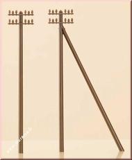 12 poteaux télégraphiques miniatures