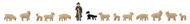 Figurines plastiques : Berger, moutons et chien d'alpage - 1:160, N - Faller 155901
