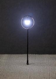 Éclairage miniature : Réverbère de parc LED, lampe boule suspendue - 1:87 HO - Faller 180205