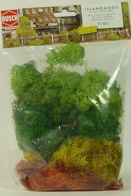 Végétation miniatures : Assortiment de Lichen - Toutes échelles - Busch 07105