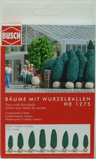 Végétation miniature : Arbres avec bulbe de racines - 1:87 - HO - Busch 01275