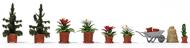 Décor miniature - Pots de fleurs 1:87 - HO - Bush 1235