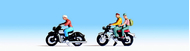 Figurines miniatures : Motocyclistes - Noch 15904
