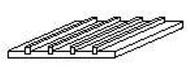 Evergreen 4522 - Plaque 1 pièce - 150 X 300 X 1 mm -  6,3 mm