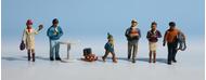 Figurines miniatures : Promeneurs au marché de noël  - Noch 15926