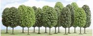 Végétation miniature : 12 arbres à feuilles caduques - Busch 06486 6486