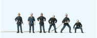 Figurines :6 Pompiers français - 1:87, HO, 12 mm peints - Preiser 10233