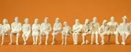 Preiser 63000 - 12 figurines assises à peindre 1:32