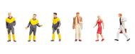6 figurines : Employés du service de dépannage - 1:87 H0 - Faller 151092
