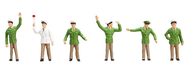 6 figurines : Différents policiers - 1:87 H0 - Faller 151097