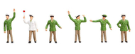 6 figurines : Différents policiers - 1:160 N - Faller 155336