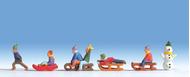 Figurines miniatures : Enfants à la neige - Noch 15819