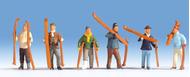 Figurines miniatures : Skieurs - Noch 15829