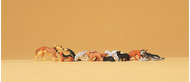 Preiser 14165 - Chiens et chats miniatures 1:87