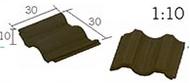 25 Tuiles imbriquées noires céramique - 30 x 30 x 10 mm - Aedes 2121