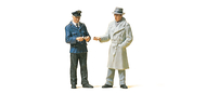 Figurines miniatures : Au contrôle 1:22,5 - G - Preiser 45003