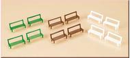 12 Bancs miniatures - Auhagen 42650