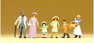Figurines miniatures : Famille époque 1900 - 1:87 - Preiser 12132