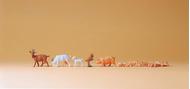 Preiser 14162 - Chèvres et porcs