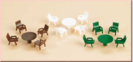 6 tables et 18 chaises 1:87 à 1:120