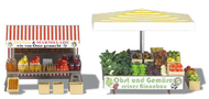 Busch 1071 - Etal de fruits 1:87 - HO