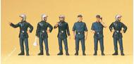 6 Pompiers miniatures 1:87, HO, 12 mm peints