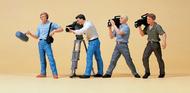 Preiser 65340 - Equipe de tournage vidéo miniature 1:43