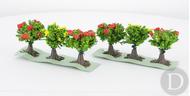 JORD-9A - 6 arbustes fleuris 3 cm 1:87