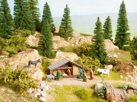 Décor miniature : Crèche de Noël - 1:87 HO - Noch 12027