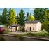 Bâtiment miniature : Maison du cheminot avec bâtiment latéral - 1:87 H0 - Auhagen 11457