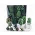 JORD-4A - 50 sapins miniatures et arbres 3-12 cm 1:160, N