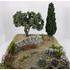 Décor provencal :  lavandes, cyprès, olivier 33 cm