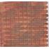 Toit en tuiles rouges en platre 30 x 19 cm