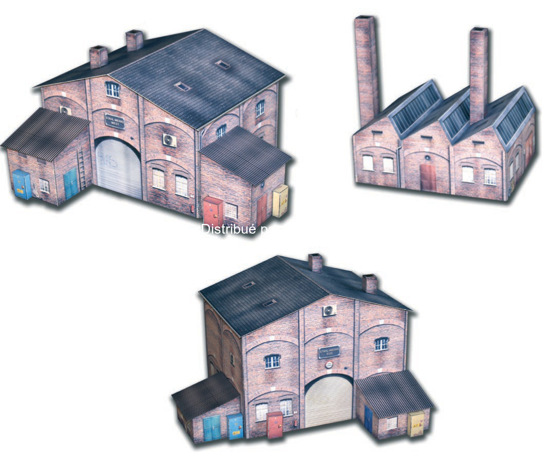 Heki 10610 - Set complet Usine miniature H0