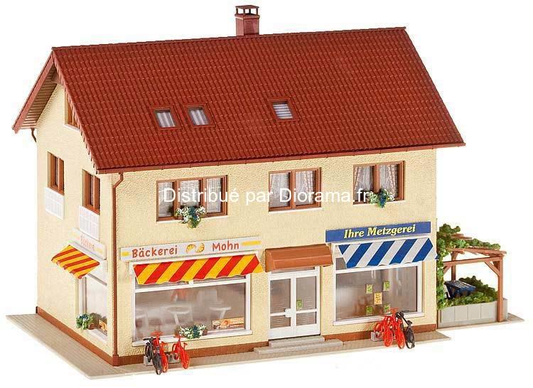 Maquette Bâtiment miniature : Faller 130489 - Charcuterie - boulangerie 1:87