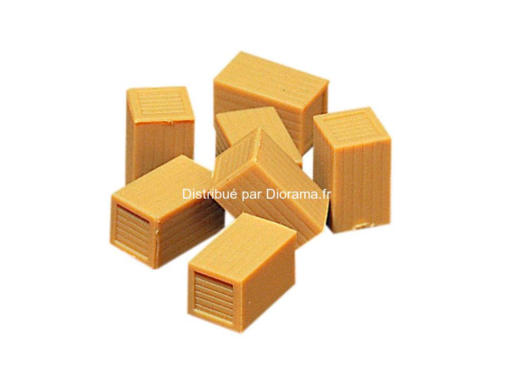 7 caisses miniatures 1:87
