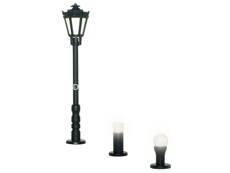Set 3 éclairages de parc  1:87 - Viessmann 6160