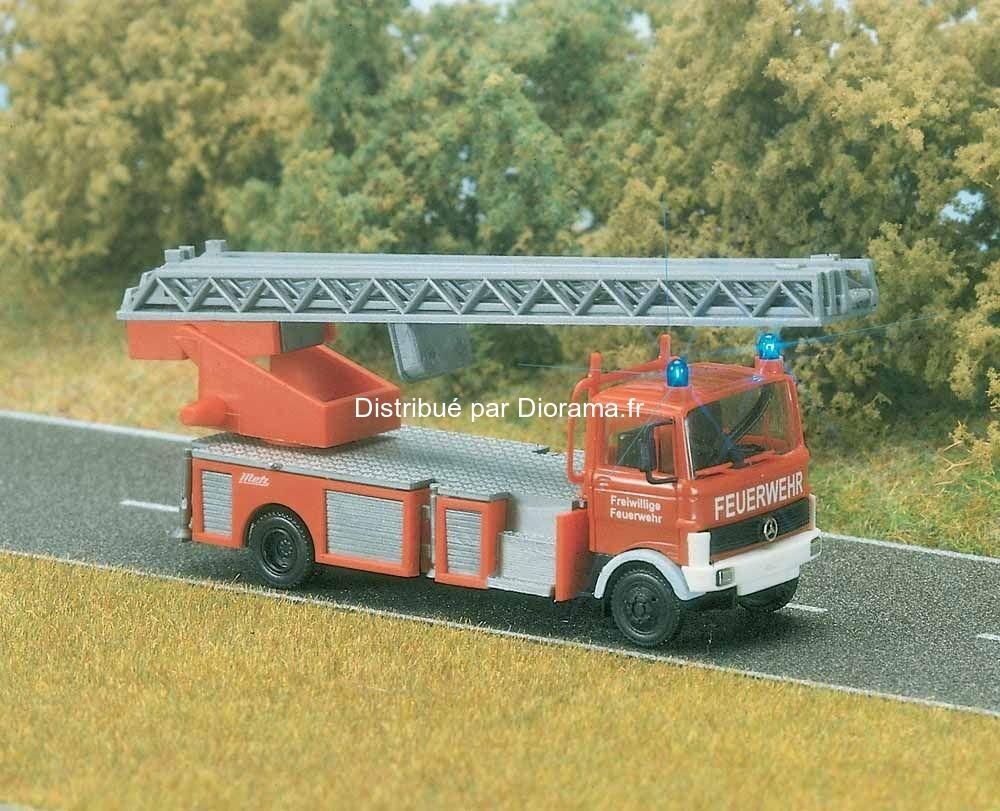 1 Cligotants Feux Miniature Avec Camion Pompier 87 D9H2WEI