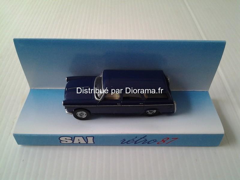 Maquette voiture : Peugeot 404 break bleu amiral - SAI -07103