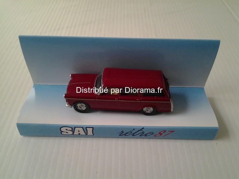 Voiture miniature : Peugeot 404 break rouge bordeaux - 1/87 - SAI 07106