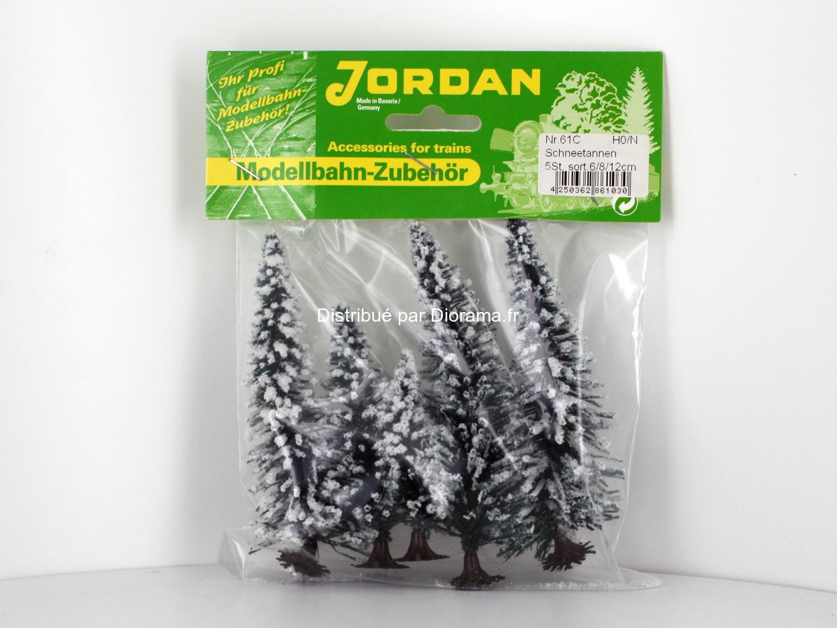 5 Sapins enneigés de 6 à 12 cm 1:87 - JORD-61C