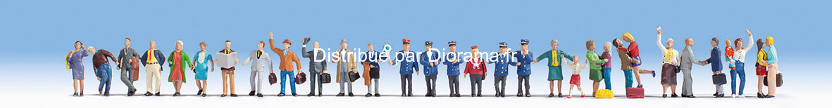 """Méga set 30 figurines """"À la gare"""" - Noch 16041"""