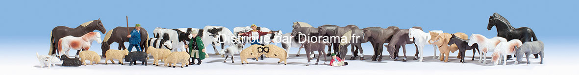 Méga set 36 animaux miniatures - Noch 16049