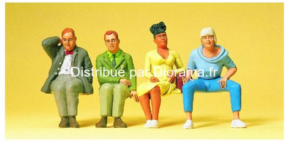 Voyageurs assis miniatures 1:43 - Preiser 65350