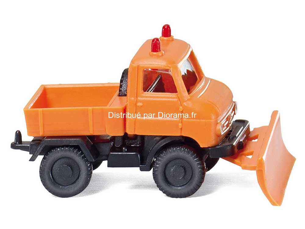 Maquette camion : Chasse-neige Unimog U 411 - 1:160 - Wiking 097203