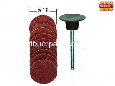 10 disques abrasifs en corindon ø 18,0 mm avec support - PROXXON 28982