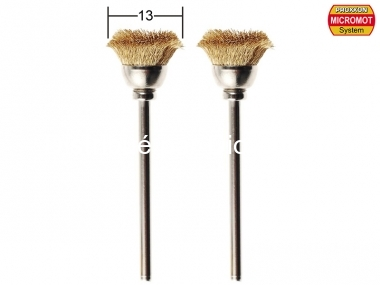2 brosses en laiton en forme de pinceau rond ø 13,0 mm - PROXXON 28963