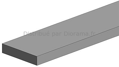 Evergreen 131 - Polystrips 10 pièces - 350 x 0,75 x 0,75 mm