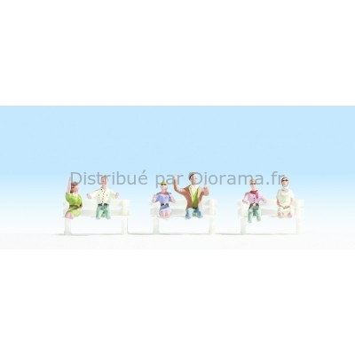 Figurines miniatures : Conducteurs cabriolet  - Noch 15911